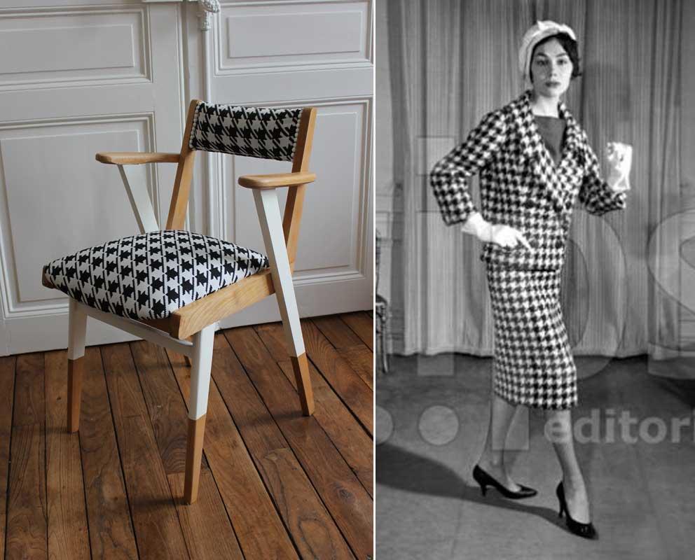 fauteuil bridge pied de poule apr s tout design. Black Bedroom Furniture Sets. Home Design Ideas