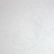 ancien plateau rectangle en métal argenté peint en blanc