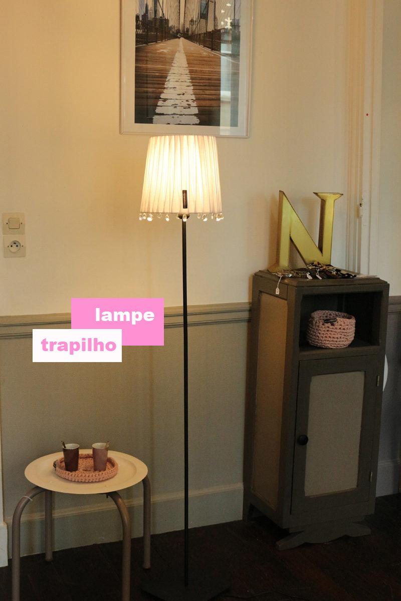 lampe trapilho blanche