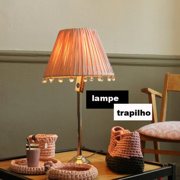 lampe rose pale
