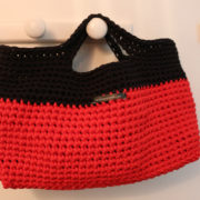 panier trapilho rouge noir